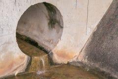 Avrinningar för förlorat vatten från röret Fotografering för Bildbyråer