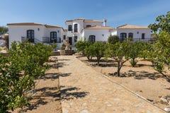 Avriven villa för CasaLa Cuerda i Bedar Arkivfoto
