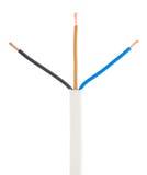 Avrivna elektriska trådar för kabel Royaltyfri Fotografi