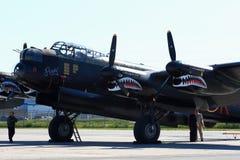 Avro Ланкастер, покрашенный с маркировками Ropey, другое Lanc от авиаотряда 419, для SkyFest Стоковые Изображения