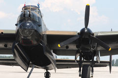 avro bombowiec przodu Lancaster wiev Fotografia Royalty Free
