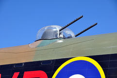 Avro Lancaster gun turrets. Upper-mid turret of an Avro Lancaster, a British four-engined Second World War heavy bomber made initially by Avro for the Royal Air Stock Photos