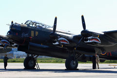 Avro Lancaster, painted with markings of Ropey, another Lanc from the 419 Squadron, for the SkyFest Stock Images