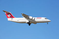 AVRO RJ100 Swiss Air Stock Images