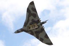avro vulcan轰炸机的飞行 库存照片