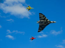 Avro Vulcan με δύο Gnats Folland Στοκ Εικόνες