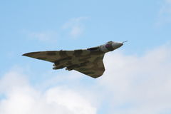 Avro Vulcan bomber in flight Stock Photography