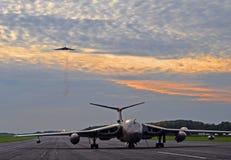 Avro Vulcan et HP Victor Images libres de droits