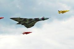 Avro Vulcan and Gnat escort Stock Image