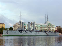 Aurora cruiser in Saint-Petersburg Royalty Free Stock Image