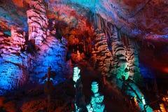 Avshalom Cave, Israel. Avshalom Cave (Soreq Cave), a  Stalactite Cave in Israel Royalty Free Stock Photo
