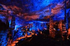 Avshalom-Höhle, Israel Stockfotografie