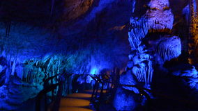 Avshalom Stalactites Cave Israel stock video