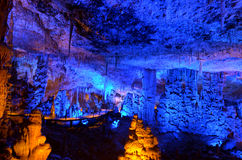 Avshalom Stalactites Cave - Israel. Soreq Avshalom Cave, located in the Judean Mountains, Israel Royalty Free Stock Photography