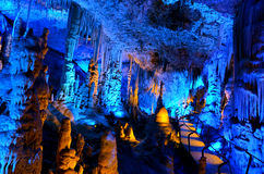 Avshalom Stalactites Cave - Israel. Soreq Avshalom Cave, located in the Judean Mountains, Israel Royalty Free Stock Images