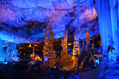 Avshalom Stalactites Cave - Israel. Soreq Avshalom Cave, located in the Judean Mountains, Israel Stock Images