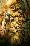 Avshalom Stalactites Cave. Stalactites and stalagmites in Avshalom Stalactites Cave, Soreq, Israel Royalty Free Stock Images