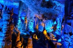 Avshalom stalaktitgrotta - Israel royaltyfria bilder