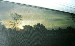 avskärmd soluppgång Arkivbilder