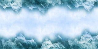 Avskeds- wavebakgrund royaltyfri illustrationer
