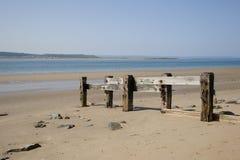 Avskild strand Royaltyfria Foton