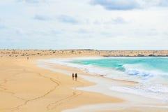 Avskilda stränder av Kap Verde Arkivfoto