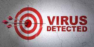 Avskildhetsbegrepp: mål och virus som avkänns på väggbakgrund Arkivfoton