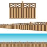 AvskildhetsstaketProperty Line Pattern uppsättning Arkivfoto