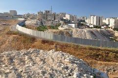 Avskiljandevägg. Israel. Royaltyfri Fotografi