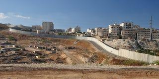Avskiljandevägg. Israel. Royaltyfria Foton