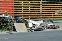Avskräde i staden Arkivfoto