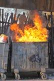 Avskrädebrand arkivfoton