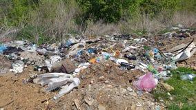 Avskrädeförrådsplats Hushållavfallsen emballage förorening för miljö Fotografering för Bildbyråer