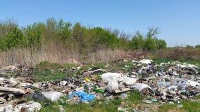 Avskrädeförrådsplats Hushållavfallsen emballage förorening för miljö Royaltyfri Fotografi