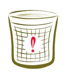 Avskrädekorg, lokalvård och renlighet stock illustrationer