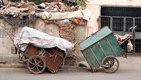 avskrädelastbil Arkivfoto