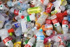 Avskrädeplast-flaskor Royaltyfri Foto