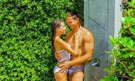 avslappnande dusch Royaltyfria Bilder