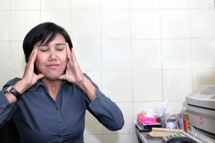 avslappnande kvinna för affär Royaltyfri Fotografi