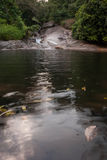 Avslappnande landskapblått Ridge Nature för vattenfall Royaltyfria Bilder
