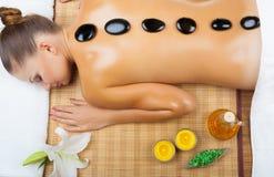 Avslappnande massage arkivbild