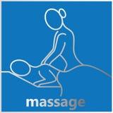 Avslappnande massage för band Arkivfoton