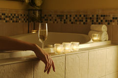 avslappnande plats för badkar arkivfoton
