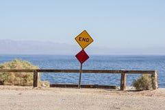 Avsluta av vägen Arkivbild