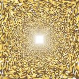 avsluta den ljusa tunnelen golden tunnel Royaltyfria Bilder
