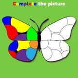 Avsluta leken för bildutbildningslogik för förskole- ungar också vektor för coreldrawillustration fotografering för bildbyråer