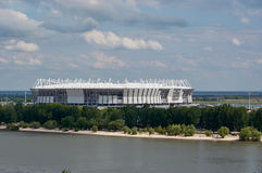 Avslutningen av stadion för fotbollmästerskapet i Rostov-na-Donu Arkivbild