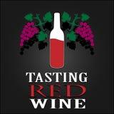 Avsmakningrött vinaffisch också vektor för coreldrawillustration Royaltyfri Fotografi
