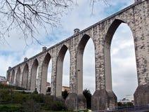 Avsnitt av akvedukten för Livres för Ã-guas, Lissabon Royaltyfria Foton
