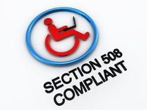 avsnitt för accessibility 508 Arkivbild